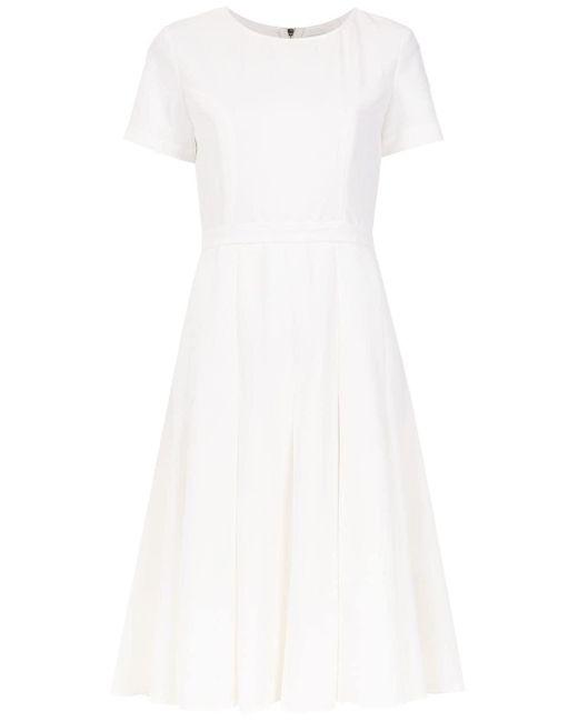 Olympiah Pleated Spezzia Dress White