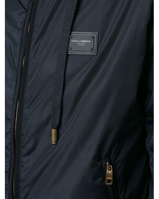 Куртка На Молнии С Капюшоном Dolce & Gabbana для него, цвет: Blue