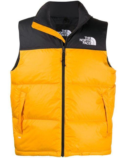 メンズ The North Face ノースリーブ パデッドベスト Orange