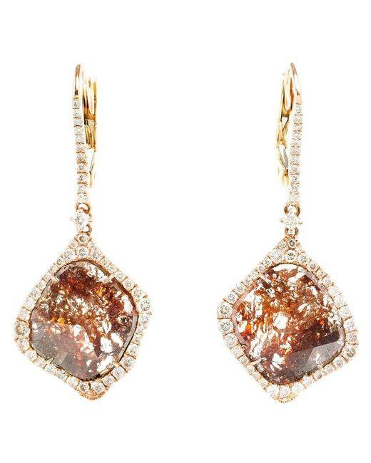 Saqqara - Metallic Sliced Diamond Drop Earrings - Lyst