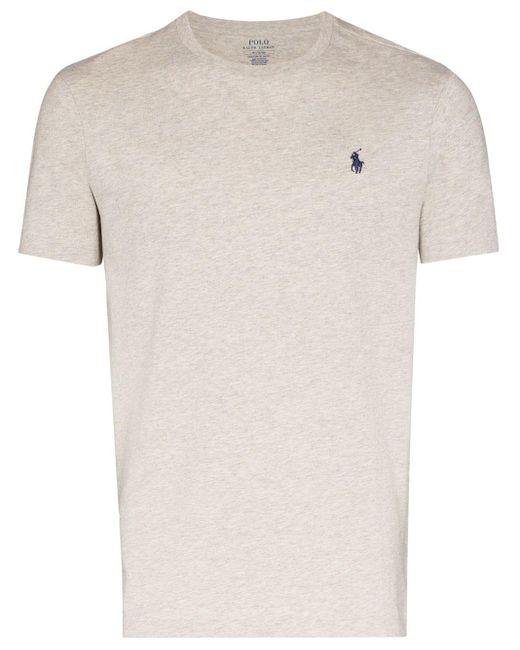 Camiseta con bordado Polo Pony Polo Ralph Lauren de hombre de color Gray