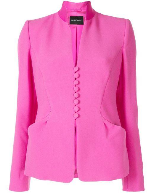 Emporio Armani スタンドカラージャケット Pink