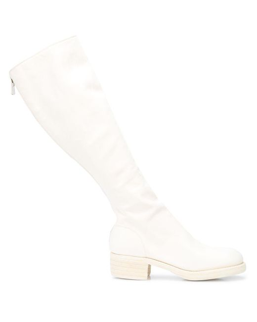 Guidi ロングブーツ White