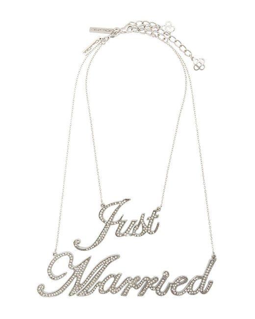 Oscar de la Renta Just Married Necklace Multicolor