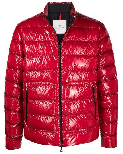 メンズ Moncler Agar パデッドジャケット Red