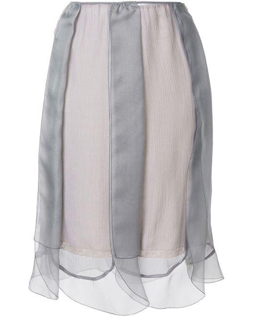 Prada レイヤード チュールスカート Gray