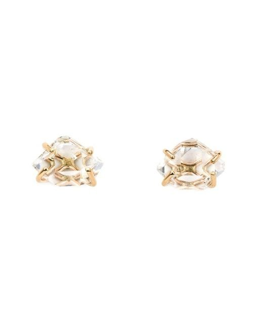 Melissa Joy Manning - Metallic Herkimer Diamond Post Earrings - Lyst