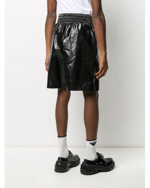 Шорты С Эластичным Поясом Bottega Veneta для него, цвет: Black
