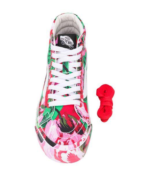 Кеды Sk8-hi С Цветочным Принтом Из Коллаборации С Vans KENZO, цвет: Pink