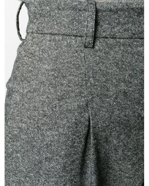 Erika Cavallini Semi Couture ハイウエスト ストレートパンツ Gray