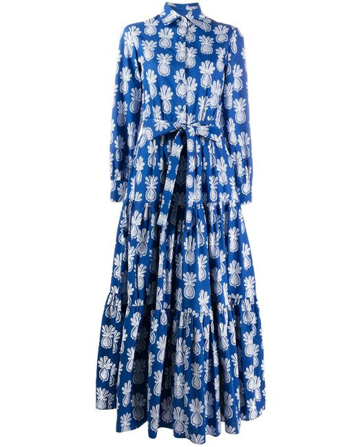 LaDoubleJ Blue Hemdkleid mit Print