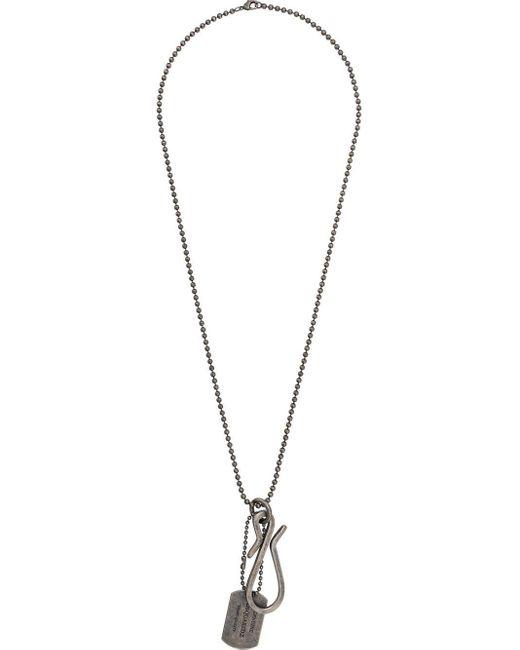 DSquared² Halsketting Met Identiteitsplaatje in het Metallic voor heren