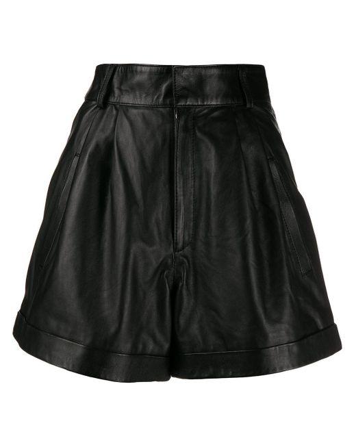 Manokhi フレア ショートパンツ Black
