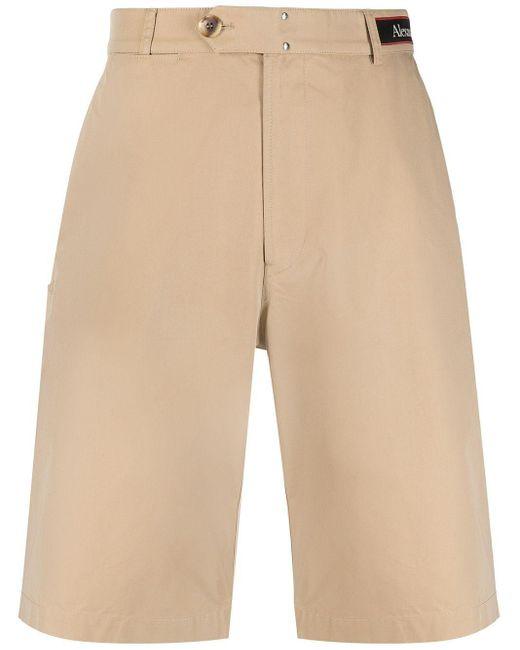 Alexander McQueen Hoch sitzende Chino-Shorts in Natural für Herren