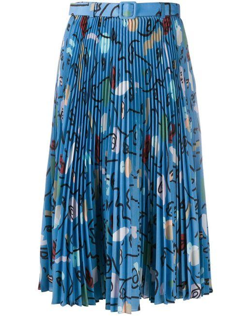 Ports 1961 プリーツ スカート Blue