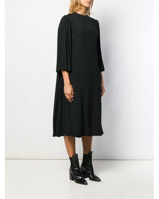 Valentino プリーツ ドレス Black