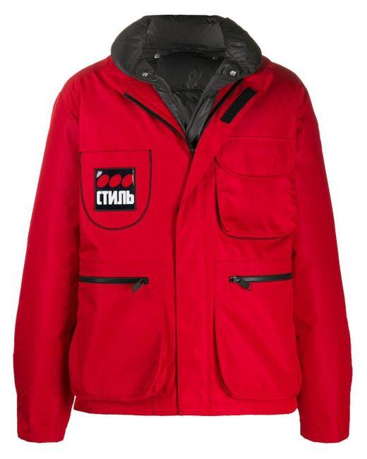 メンズ Heron Preston ロゴ パデッドジャケット Red