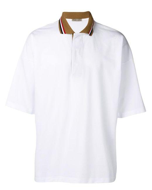 メンズ Bottega Veneta ストライプカラー ポロシャツ White