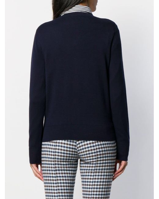 A.P.C. ロゴストライプ セーター Blue