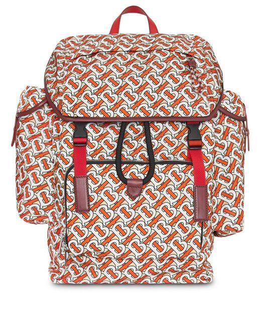 Рюкзак С Принтом Монограммы Burberry для него, цвет: Multicolor