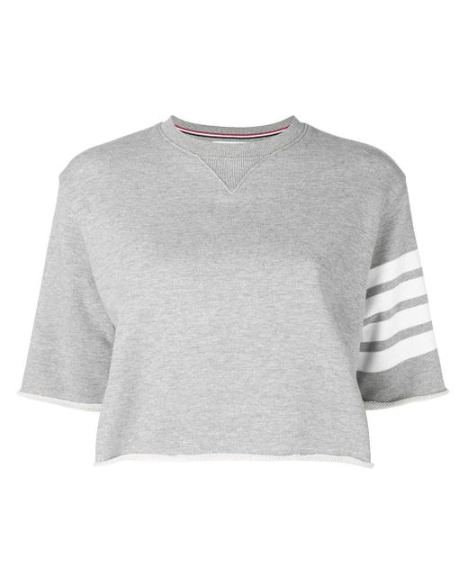 Thom Browne 4-bar Tシャツ Gray