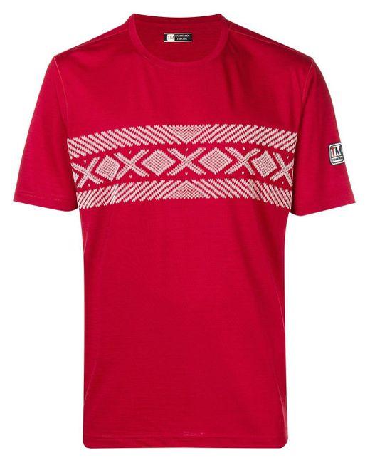 メンズ Z Zegna プリント Tシャツ Red