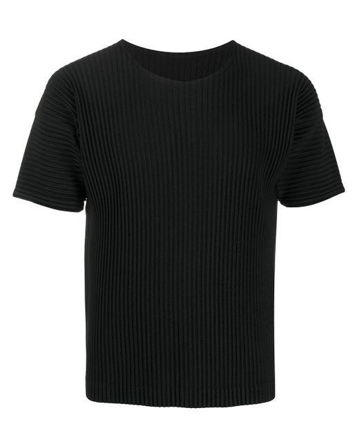 メンズ Homme Plissé Issey Miyake プリーツ Tシャツ Black