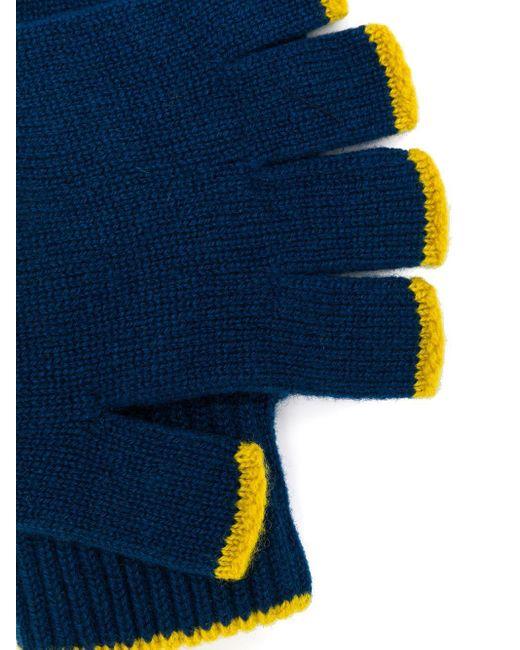 Mitones de cashmere Pringle of Scotland de hombre de color Blue