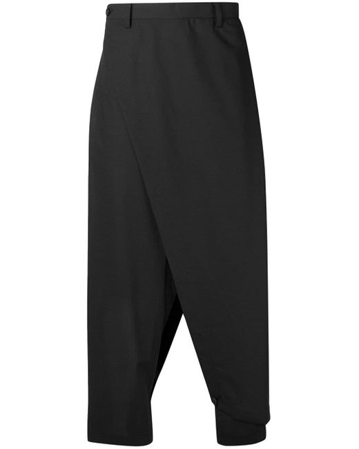 Issey Miyake Black Drop-crotch Trousers for men