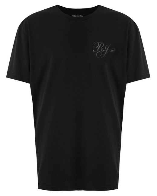 メンズ Osklen Rj Skateboard Tシャツ Black