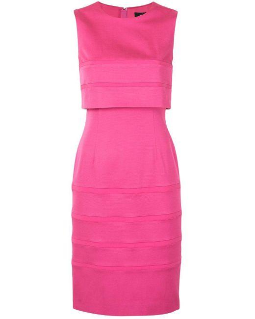 Paule Ka ストライプ ドレス Pink