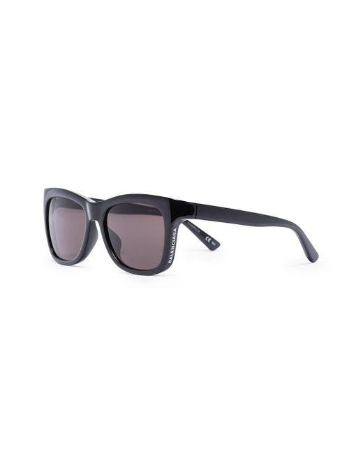 メンズ Balenciaga スクエアフレーム サングラス Black