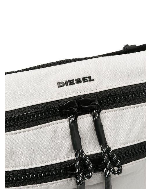 メンズ DIESEL F-urbhanity ロゴ ベルトバッグ Gray