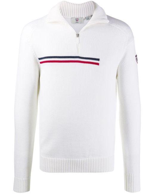 Rossignol Pullover mit Reißverschluss in White für Herren