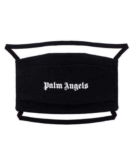 メンズ Palm Angels コットンジャージーフェイスマスク Black