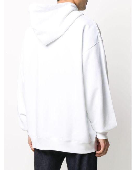 Худи Оверсайз Acne, цвет: White