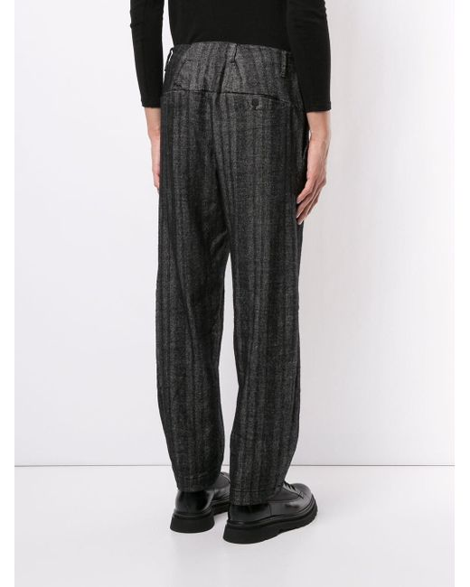 Transit Gerade Hose mit Streifen in Gray für Herren