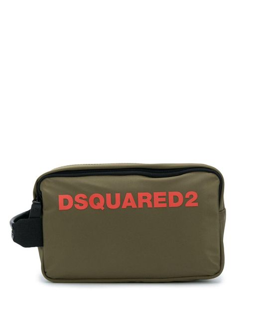 メンズ DSquared² ロゴ トラベルポーチ Green