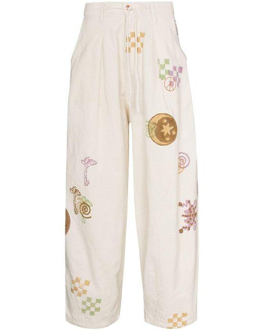 Jeans taglio comodo Lush Spiral Trip di STORY mfg. in White da Uomo