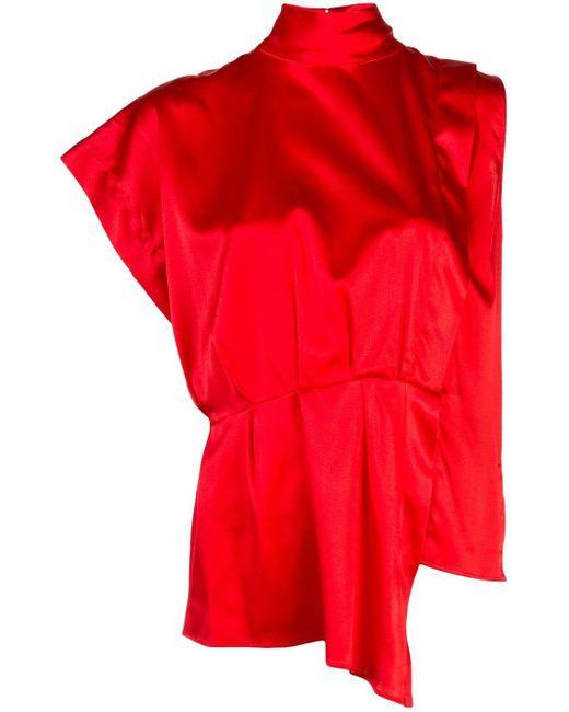FEDERICA TOSI スタンドカラー シャツ Red