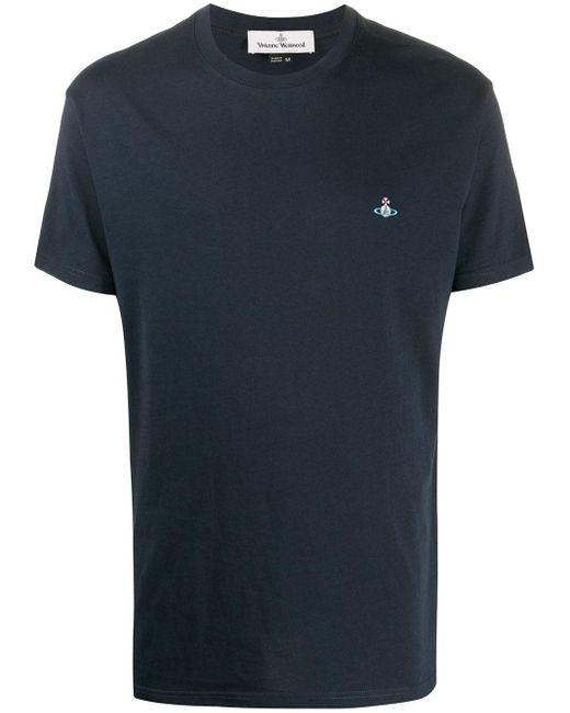 メンズ Vivienne Westwood ラウンドネック Tシャツ Blue