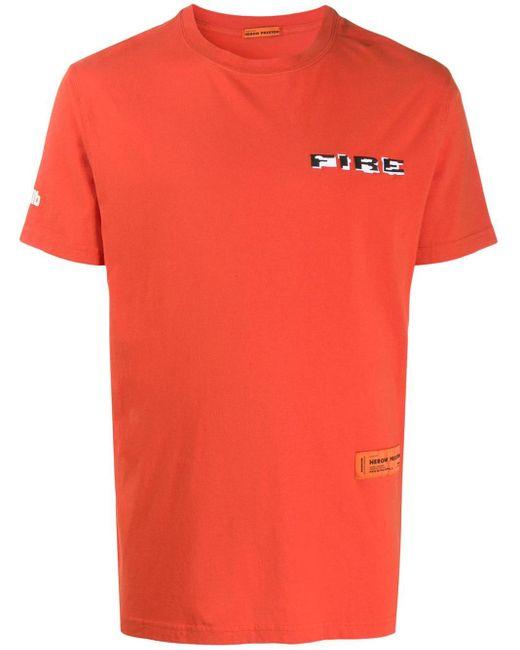 メンズ Heron Preston ロゴ Tシャツ Orange