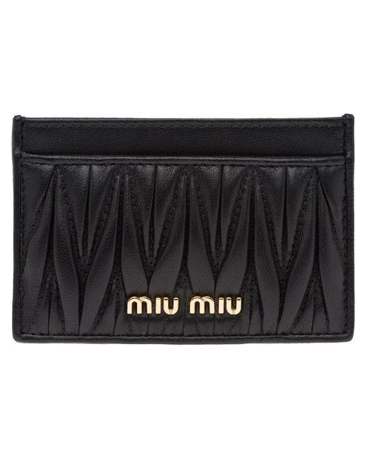 Miu Miu キルティング カードケース Black