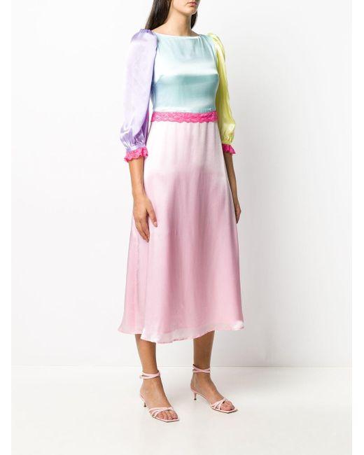 Olivia Rubin カラーブロック ドレス Pink