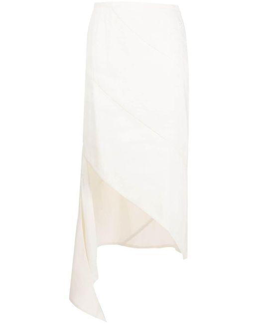 Off-White c/o Virgil Abloh ドレープ ペンシルスカート Natural