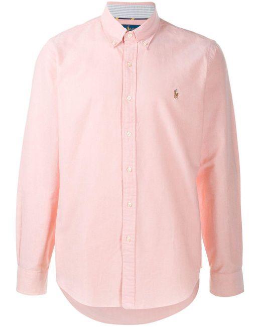 メンズ Polo Ralph Lauren ロゴ ボタンダウンシャツ Pink