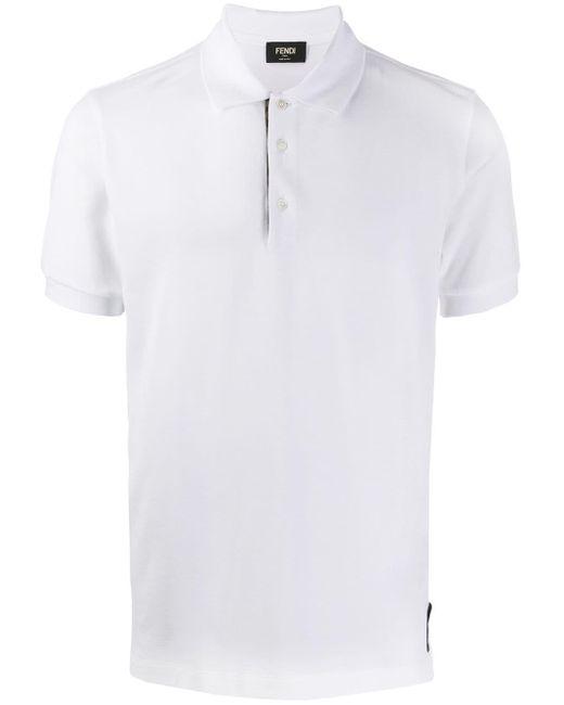 メンズ Fendi ピケ ポロシャツ White