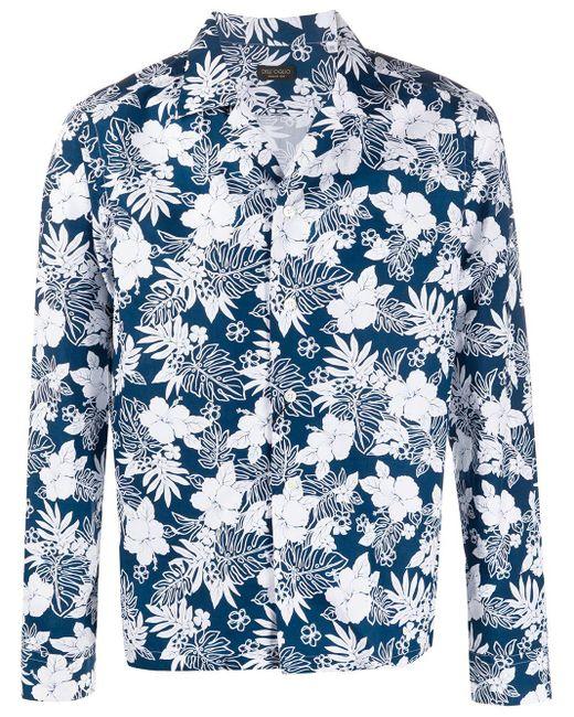 メンズ Dell'Oglio フローラル シャツ Blue