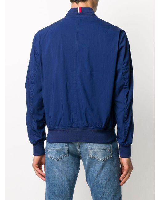 メンズ Tommy Hilfiger ロゴ ボンバージャケット Blue
