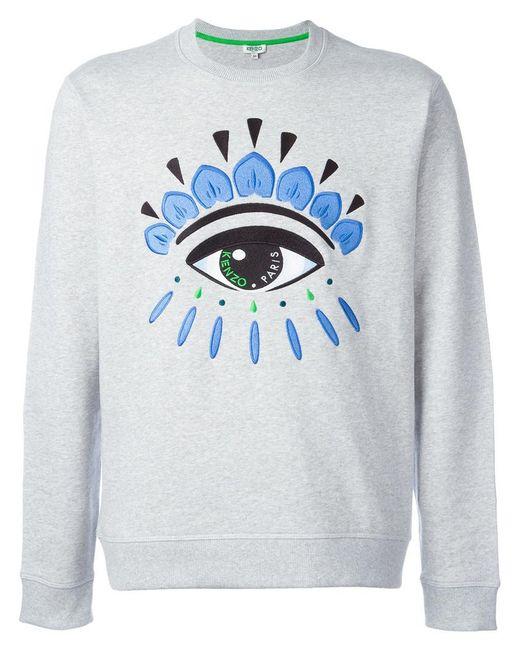 KENZO | Gray Eye Sweatshirt for Men | Lyst